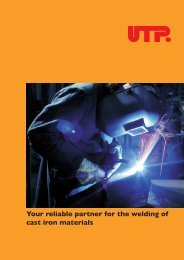 Your reliable partner for the welding of cast iron materials - UTP ...
