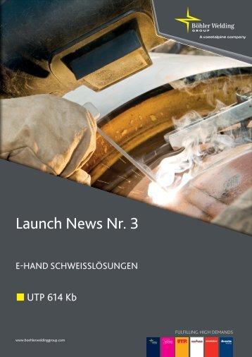 BSDG Launch News Nr.3_dt_Krug.indd - UTP Schweissmaterial