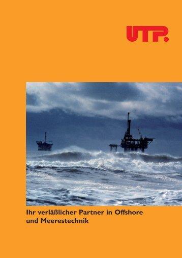 UTP Offshore - UTP Schweissmaterial