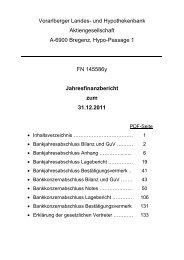 Vorarlberger Landes- und Hypothekenbank Aktiengesellschaft A ...