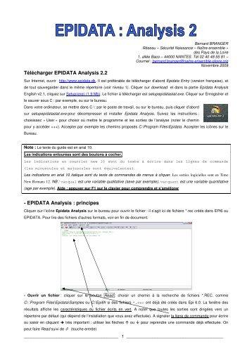 epidata analysis 2.2