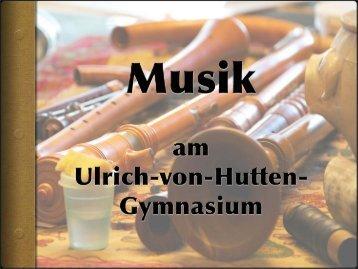 Präsentation Fachbereich Musik - Ulrich-von-Hutten-Oberschule