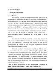 conjuntura agricultura, pecuaria e agronegocio - Banco do Nordeste