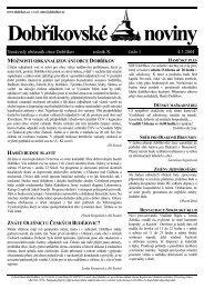 Dobříkovské noviny - Obec Dobříkov