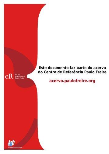 Baixar - Acervo Paulo Freire - Instituto Paulo Freire