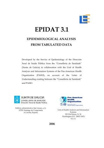 EPIDAT 3.1 - Innovación e Xestión da Saúde Pública - Sergas