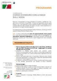 layout programma tour corso enduro - BMW Moto Club Visconteo
