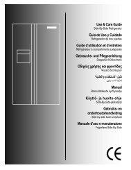 Frigidaire GLVC 25 VBEB Fridge Freezer Operating Instructions ...