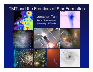 TMT and the Frontiers of Star Formation - Physics and Astronomy