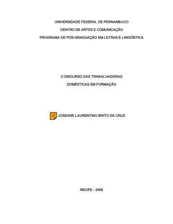 UNIVERSIDADE FEDERAL DE PERNAMBUCO ... - UFPE PPGL