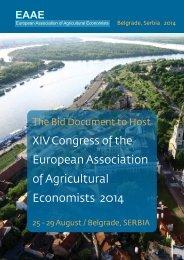 European Association of Agricultural Economists 2014