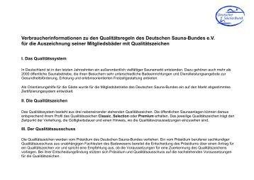 Verbraucherinformationen zu den Qualitätsregeln des Deutschen ...