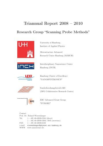 Triannular Report 2008 - 2010 - Scanning Probe Methods Group