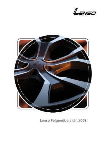 Lenso Felgenübersicht 2009 - Rondell