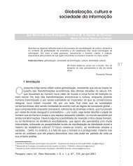 Globalização, cultura e sociedade da informação - Ufrgs