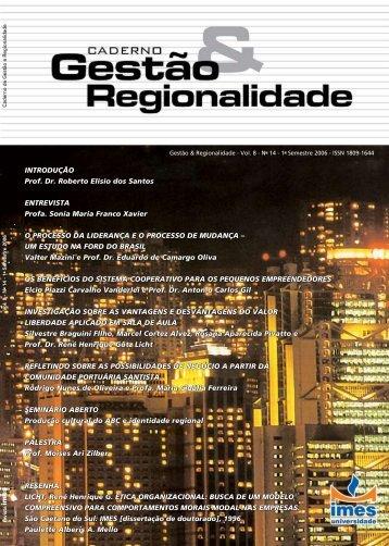 INTRODUÇÃO Prof. Dr. Roberto Elísio dos Santos ... - USCS