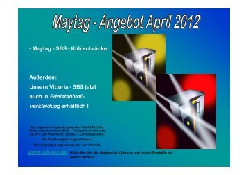 Powerpoint April Maytag-Aktion