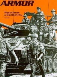 ARMOR, September-October 1987 Edition - Fort Benning - U.S. Army