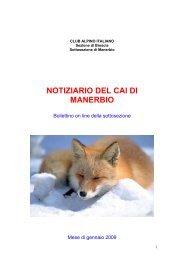 a cura di Fabrizio Bonera - CAI Manerbio