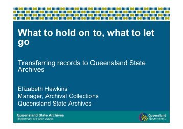 Records are - Queensland State Archives