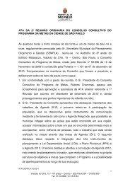 ATA DA 2ª REUNIÃO ORDINÁRIA DO CONSELHO ... - Agenda 2012