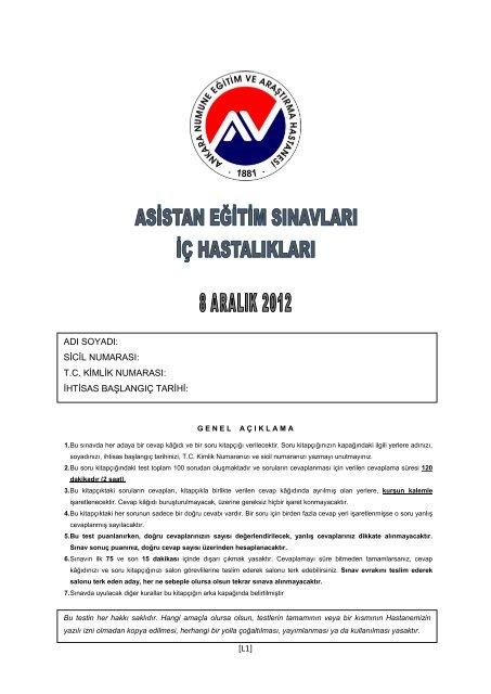 L1 Ankara Numune Eğitim Ve Araştırma Hastanesi