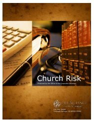 Church Risk - Christian and Missionary Alliance