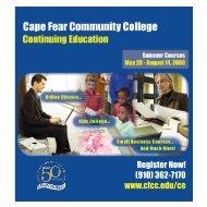 Register Now! (910) 362-7170 www.cfcc.edu/ce - Cape Fear ...