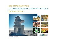 co-operatives in aboriginal communities in canada - Canadian Co ...