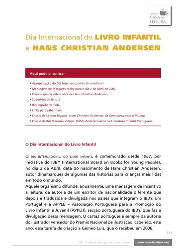 Dia Internacional do Livro Infantil e Hans Christian Andersen