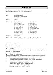 Protokoll - Gewerbeverein-Owingen