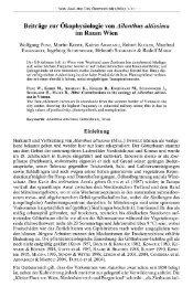 Beiträge zur Ökophysiologie von Ailanthus altissima im Raum Wien
