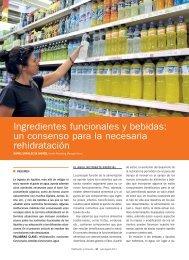 Ingredientes funcionales y bebidas: un consenso para la ... - Mercasa