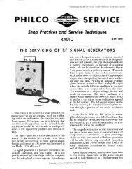 Philco Service