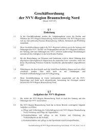 Geschäftsordnung der NVV-Region Braunschweig Nord