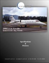 1998 LEAR 31A ER - Pacific Point Aviation