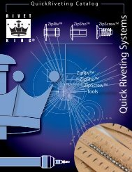 Quick Riveting Systems Catalog - Industrial Rivet & Fastener Co