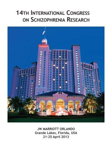 Program Book - International Congress on Schizophrenia Research