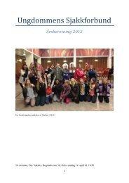 Årsberetning 2012 - Sjakktuelt