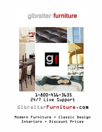 Gibraltar Furniture Catalog