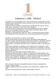 Collezione 1-ONE SS2012 - Sermar-srl.com