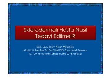 Sklerodermalı Hasta Nasıl Tedavi Edilmeli?