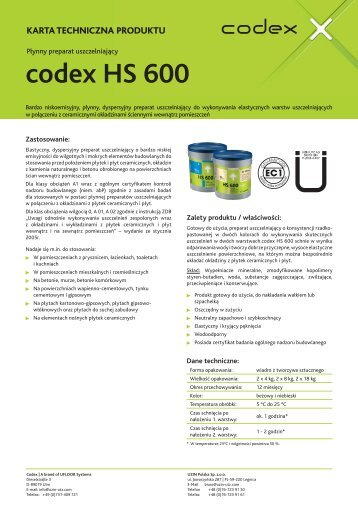 codex HS 600 - Uzin Utz AG