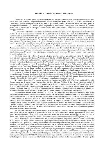 Ossana e Vermiglio: storie di confine - Trentino Cultura