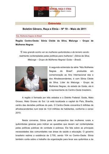 Entrevista Boletim Gênero, Raça e Etnia – Nº 19 – Maio de 2011
