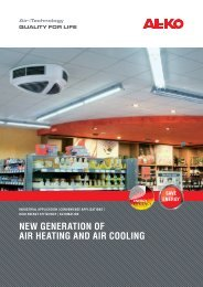 NEW GENERATION OF AIR HEATING AND AIR COOLING - AL-KO
