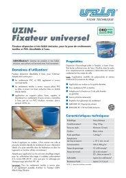 UZIN- Fixateur universel - Uzin Utz AG