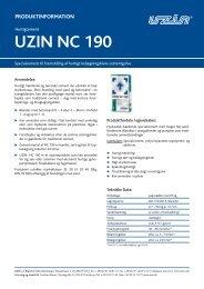 Produktinformation - Uzin Utz AG