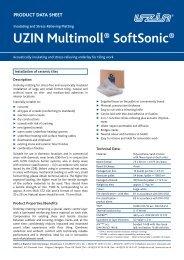 UZIN Multimoll® SoftSonic® - Uzin Utz AG