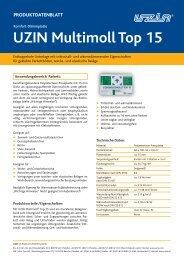 UZIN Multimoll Top 15 PRODUKTDATENBLATT - Uzin Utz AG